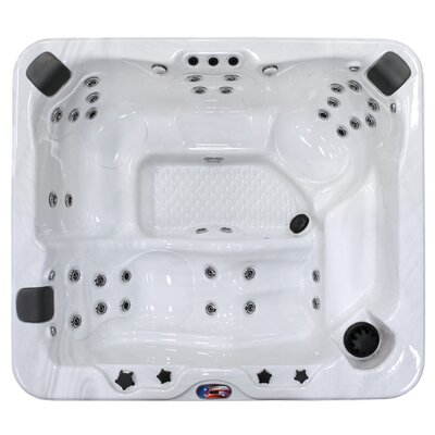 6-Person 37-Jet Spa with Bluetooth Stereo System Finish: Sterling and Mist