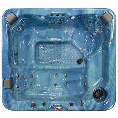 6-Person 37-Jet Spa with Bluetooth Stereo System Finish: Pacific Rim and Mist
