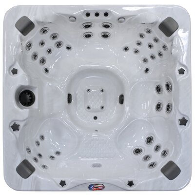 7-Person 56-Jet Spa with Bluetooth Stereo System Finish: Sterling and Mist