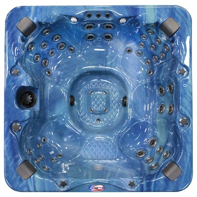 7-Person 56-Jet Spa with Bluetooth Stereo System Finish: Pacific Rim and Mist