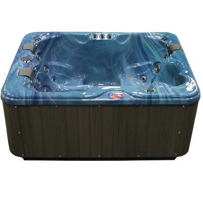 3-Person 34-Jet Spa with Bluetooth Stereo System Color: Pacific Rim and Mist