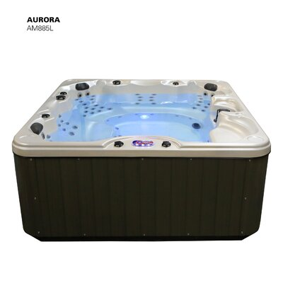 Aurora Lounger 5-Person 85-Jet Spa with Waterfall