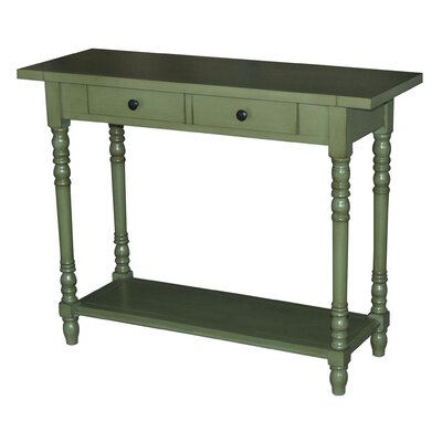 Carleton Console Table Color: Green