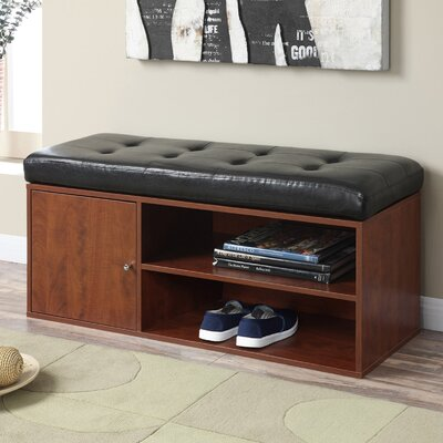 Houston Faux Leather Storage Bench