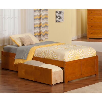 Mackenzie Extra Long Twin Platform Bed with Drawers Color: Caramel Latte