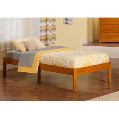 Mackenzie Extra Long Twin Platform Bed Color: Caramel Latte