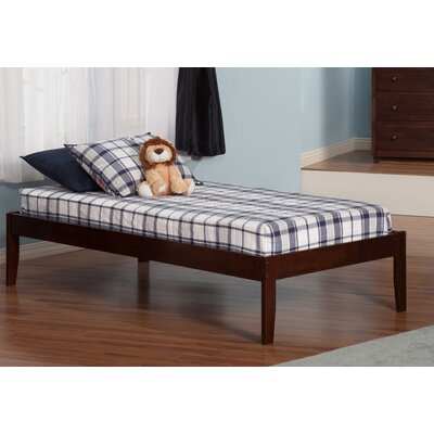 Mackenzie Extra Long Twin Platform Bed Color: Antique Walnut