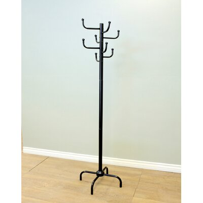 Eight Hook Metal Coat Rack