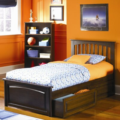 Arkwright Platform Bed with Drawers Size: Twin