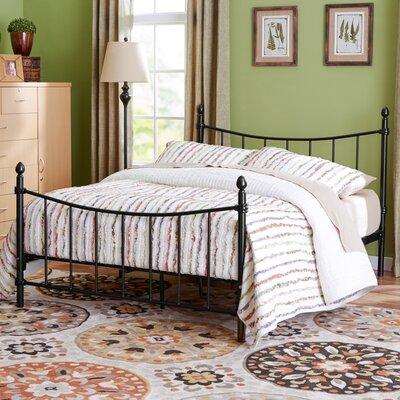 Merion Platform Bed Size: Twin, Upholstery: Black