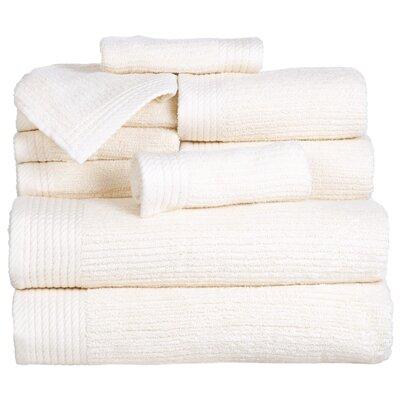 Pernelia 10 Piece Egyptian-Quality Cotton Towel Set Color: Bone