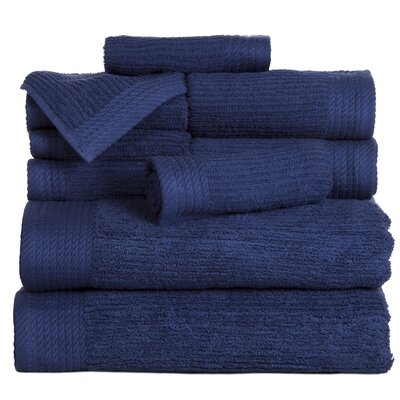 Pernelia 10 Piece Egyptian-Quality Cotton Towel Set Color: Navy