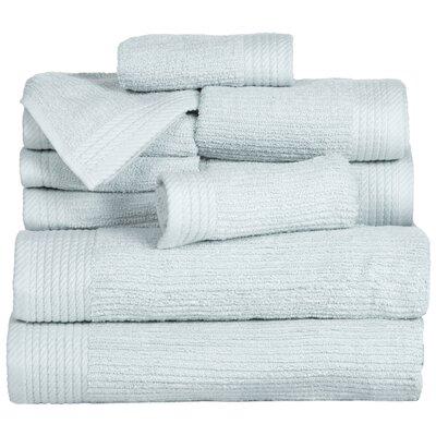 Pernelia 10 Piece Egyptian-Quality Cotton Towel Set Color: Seafoam