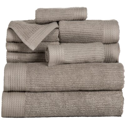 Pernelia 10 Piece Egyptian-Quality Cotton Towel Set Color: Taupe