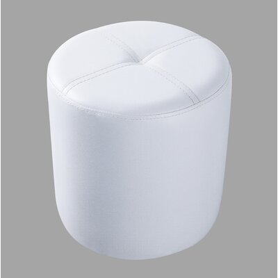 Maxine Round Accent Stool Color: White