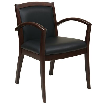 Roxanne Full Cushion Back Eco Leather Guest Chair Finish: Espresso