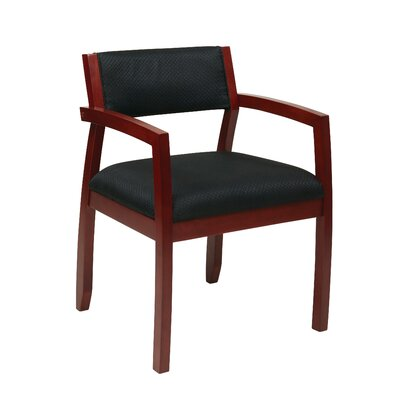 Roxanne Upholstered Back Guest Chair Finish: Cherry