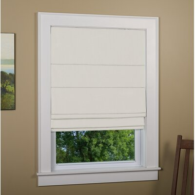 "Kilby Blackout Roman Shade Size: 48"" W x 72"" L, Finish: Ivory"