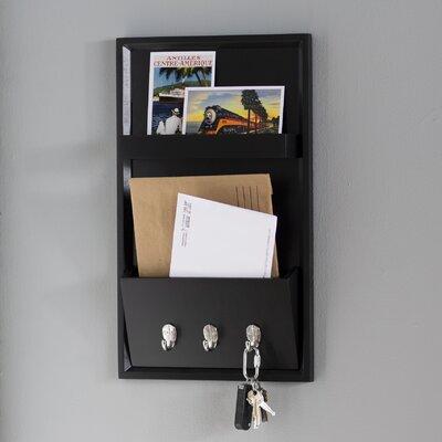 Albertina Letter Holder Wall Hook Finish: Black