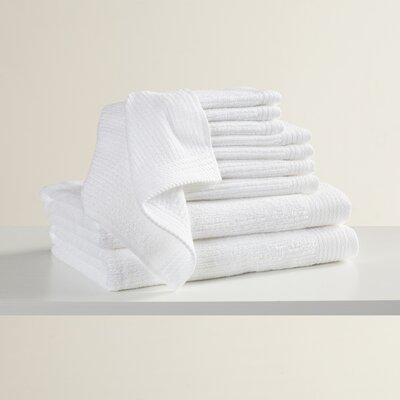 Pernelia 10 Piece Egyptian-Quality Cotton Towel Set Color: White
