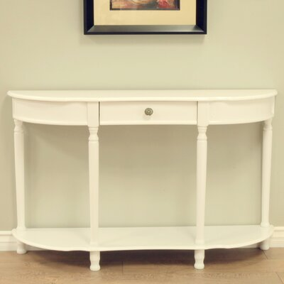 Half-Circle Wood Console Table