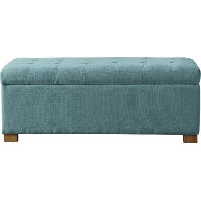 Ravenwood Upholstered Storage Bench Color: Laguna