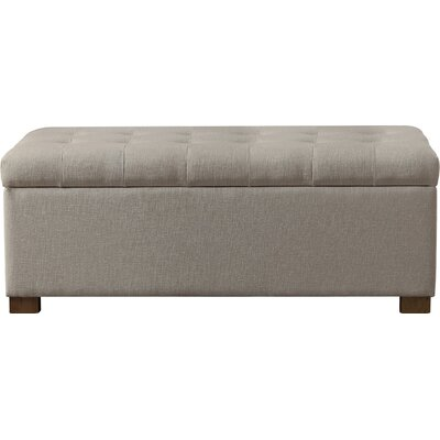 Ravenwood Upholstered Storage Bench Color: Beige
