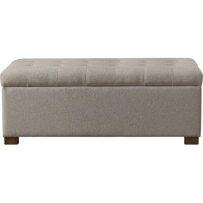 Ravenwood Upholstered Storage Bench Color: Beige