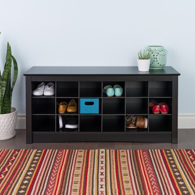 Sybil Storage Bench Color: Black