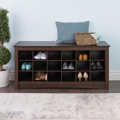 Sybil Storage Bench Color: Espresso