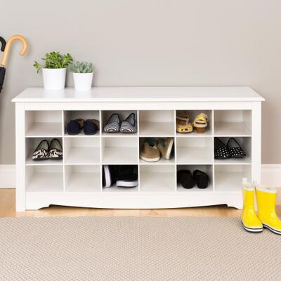 Sybil Storage Bench Color: White
