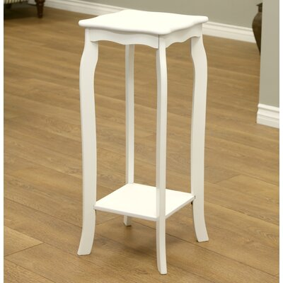 Corner Plant Stand Color: White