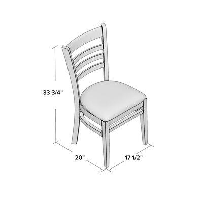 Lyman Chase Ladder Back Side Chair I Upholstery Color: Burgundy Vinyl, Frame Color: Walnut