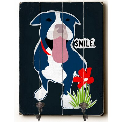 Smile Leash Planked Wood Wall Mounted Coat Rack