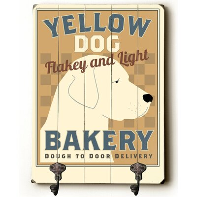 Yellow Dog Bakery Leash Planked Wood Wall Mounted Coat Rack