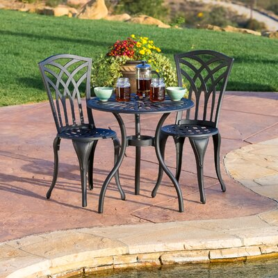 Oconnor 3 Piece Outdoor Bistro Set