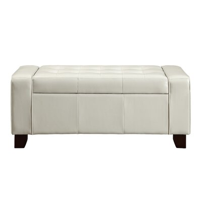 Thawville Storage Bench Color: Ivory