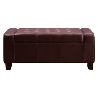 Thawville Storage Bench Color: Burgundy