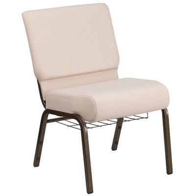 Alvera Book Rack Fabric Guest Chair