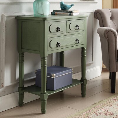 Carleton 3 Drawer Chest Color: Green