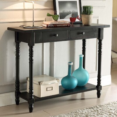 Carleton Console Table Color: Black