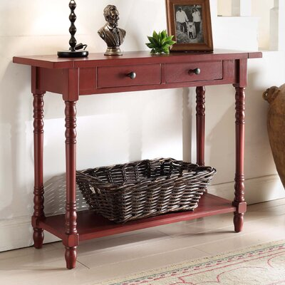 Carleton Console Table Color: Red