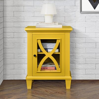 Rosendale 1 Door Accent Cabinet Color: Yellow