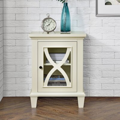 Rosendale 1 Door Accent Cabinet Color: Cream