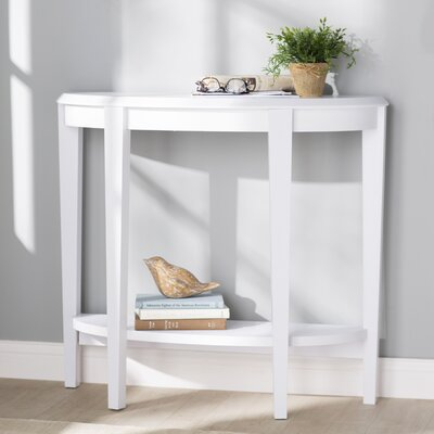 Blakeway Half Moon Console Table Color: White