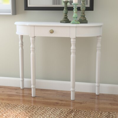 Kauffman Console Table Color: White
