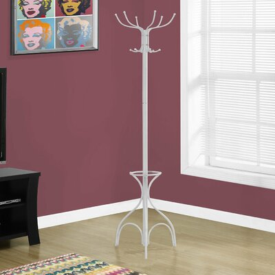 Umbrella Holder Coat Rack Finish: White