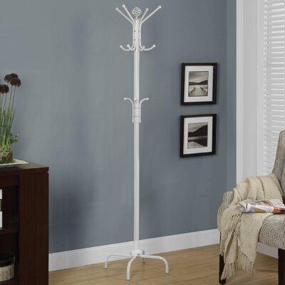 Arness Metal Coat Rack Color: White