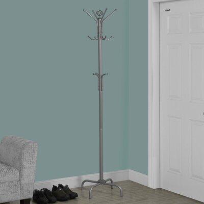 Arness Metal Coat Rack Color: Silver