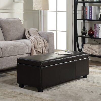 Boston Faux Leather Storage Bench Upholstery Color: Brown